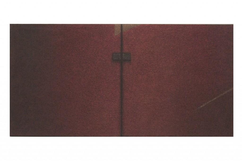 La porte rouge, oeuvre de Jacques Cassiman